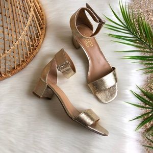 Franco Sarto Rosalina Gold Metallic Sandals 6.5